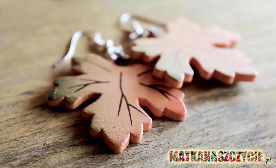 kolczyki jesienne liście