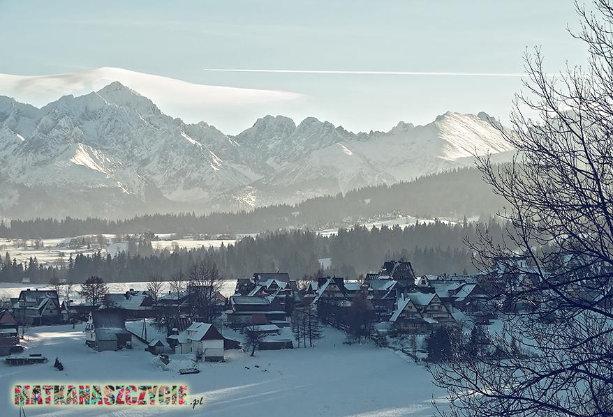 zima bukowina tatrzańska tatry panorama