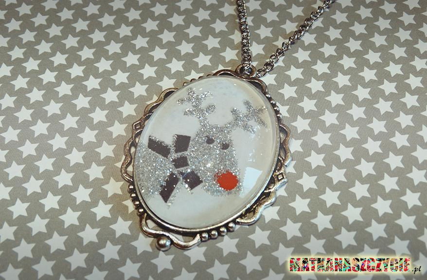 biżuteria świąteczna renifer zima