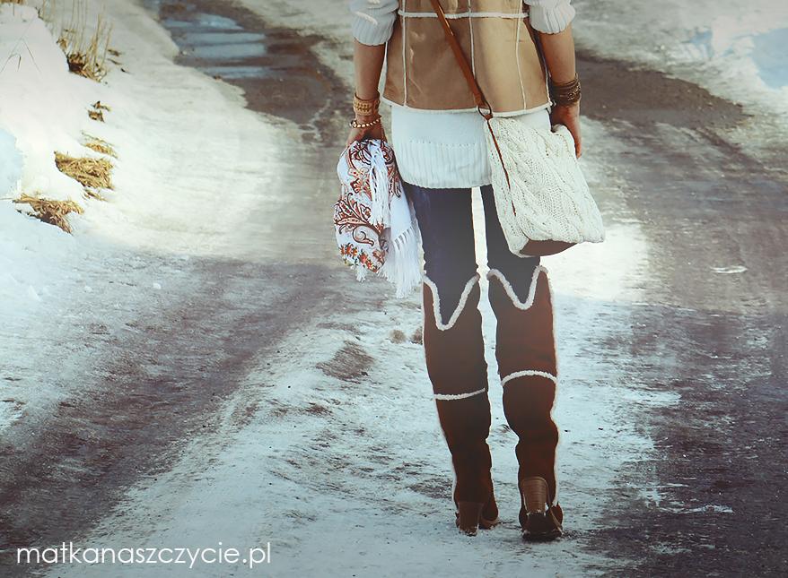 winter fashion kożuszkowe kozaki