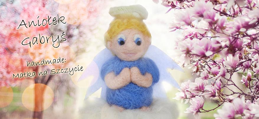 Aniołek z filcu