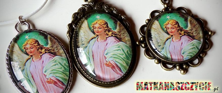 Anioł Stróż medalion