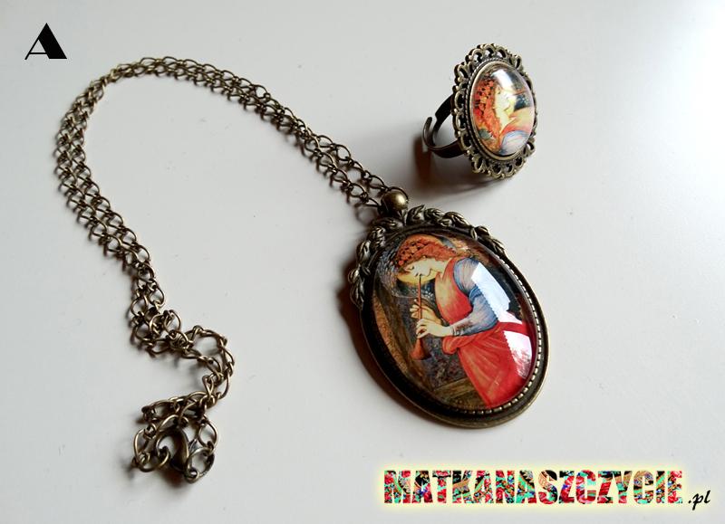 Medalion z aniołem