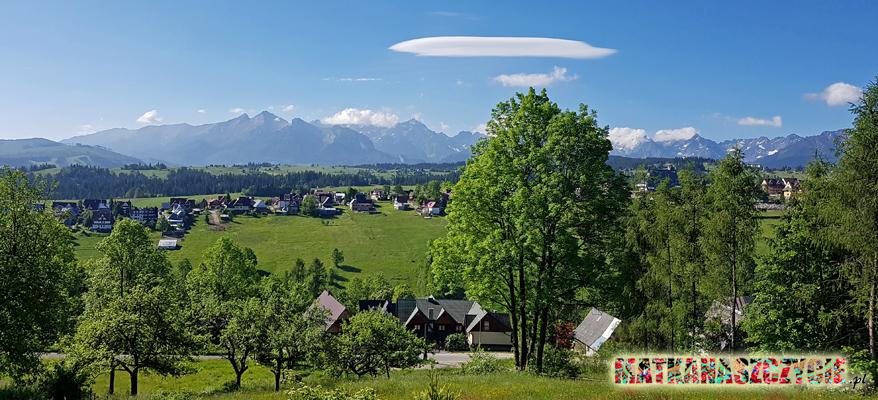 Tatry widok z Bukowiny Tatrzańskiej