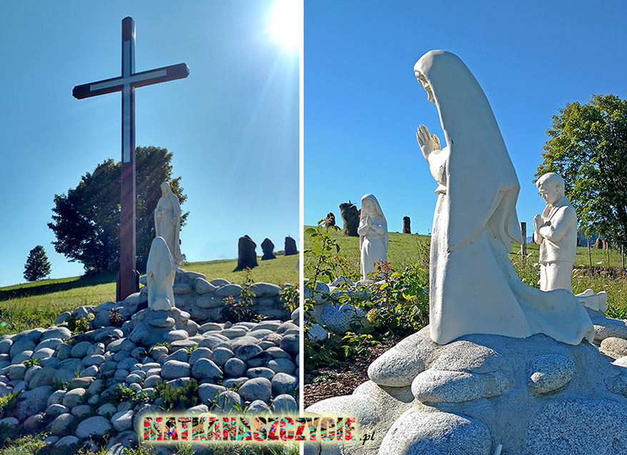 Matka Boska Fatimska kapliczka krzyż
