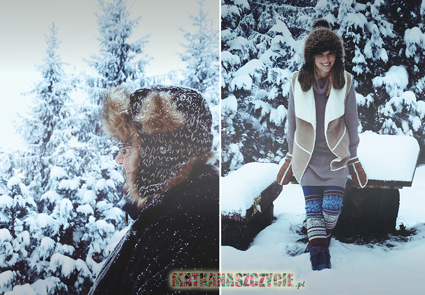 Zimowa stylizacja futrzane czapki Starling