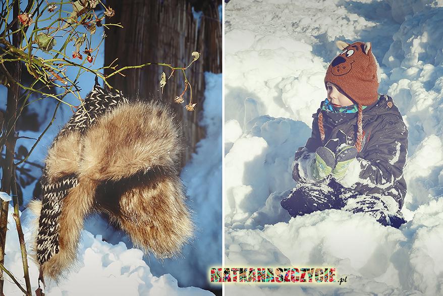 śnieg w górach zima czapki
