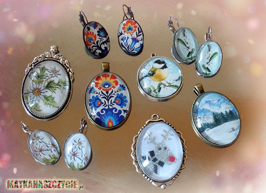 biżuteria kaboszony folk zima